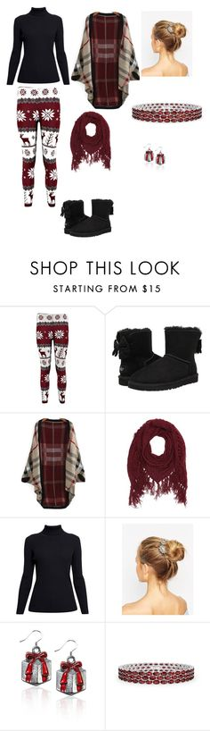 """""""Chrismas chilling"""" by sabrina-blue on Polyvore featuring UGG Australia, Charlotte Russe, Rumour London and ALDO"""