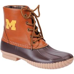 Michigan Wolverines Women's Sporty Casual Boots - Tan/Brown - $43.99