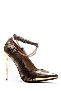 Chained Gold Bullet Shimmer Pointed Heels @ Cicihot Heel Shoes online store sales:Stiletto Heel Shoes,High Heel Pumps,Womens High Heel Shoes,Prom Shoes,Summer Shoes,Spring Shoes,Spool Heel,Womens Dress Shoes