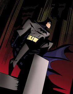 Batman by Bruce Timm Batman Artwork, Batman Comic Art, Batman Wallpaper, Im Batman, Batman Stuff, Gotham Batman, Nightwing, Batgirl, Hahaha Joker