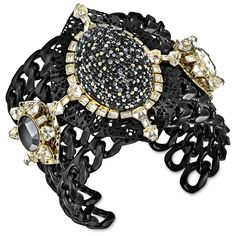 Inspired by dark glamour, this impressive gold-plated cuff shines in 7 crystal colors including Crystal Moonlight and Crystal Silver Shade. Cuff Jewelry, Jewelry Findings, Bangle Bracelets, Jewelry Box, Jewelery, Jewelry Accessories, Jewelry Necklaces, Bangles, Handmade Jewelry