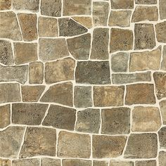 Taupe Flagstone Rock Wall Texture - Flagstone - Brewster Wallpaper - 412-44151