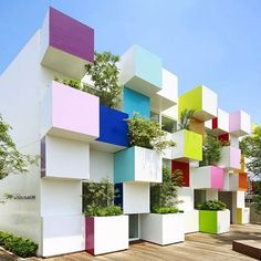 Few associate banks with bright splashes of color, but Tokyo-based designer Emmanuelle Moreaux is altering this perception with Sugamo Shinkin Bank's energetic Nakaaoki Branch. Located on a busy intersection, Moreaux's facade enriches passersby with vibrant and animated colors that rhythmically change as one moves by. Built-in elevated planters contain foliage specifically chosen to reflect seasonal changes in nature, adding to the structure's visual dynamism and creating a lively yet…