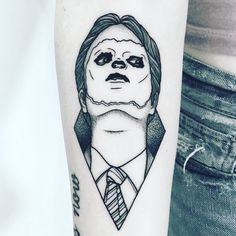 "@dundermifflinpaperco on Instagram: ""The first tattoo is so well done but just so creepy! It reminds me of Repo the Genetic Opera!! I love seeing your Office tattoos, always…"""