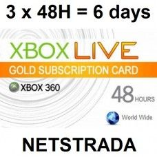 3 X Xbox Live 48 Hours Subscription 360 Usa Gold Card Code Emailed