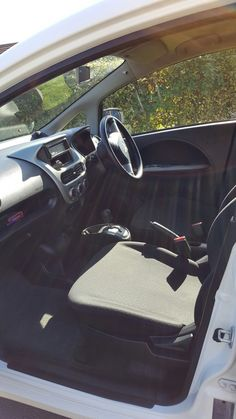 Inside my new Mitsubishi I Miev! love it no noise or pollution!