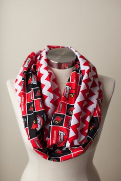 University of Louisville Infinity Scarf on Etsy, $24.00