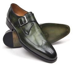 """Paul Parkman green monkstraps"" by paulparkman on Polyvore featuring men's fashion and menswear"