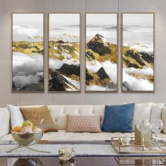 4 pieces Gold art Mountain Abstract painting print Black and white ready to hang set of 4 wall art Acrylic Painting print On Canvas Gold Art Print, Wall Art, Painting, Amazing Art Painting, Painting Prints, Abstract, Canvas Painting, Painting Frames, Abstract Painting Print