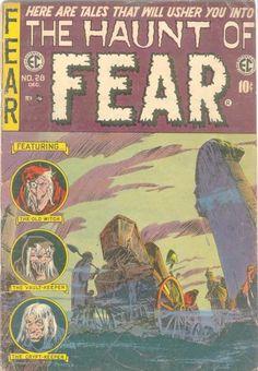 The Haunt of FEAR 28 golden age comic Vintage Comic Books, Vintage Comics, Comic Books Art, Book Art, Creepy Comics, Horror Comics, Ec Comics, Albin Michel, Tales From The Crypt
