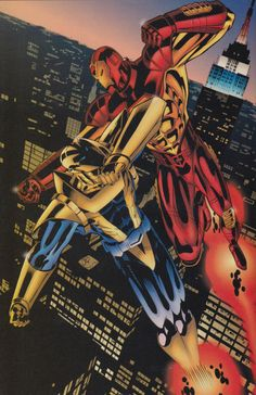 Ultraverse / Marvel Crossover: Prototype and Iron Man by Chris Sprouse