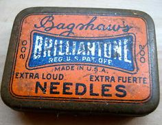 1920-30's US American Tin Box for Phonograph Needles Bagshaw's Brilliantone | by glad9 with Pin-It-Button on Ebay