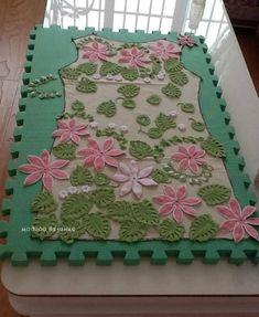 Платье +Розовый лотос* крючком - Crochet Modnoe Vyazanie