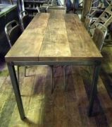 stripped steel desks, railway sleeper tables, scandinavian coffee tables - metroretro