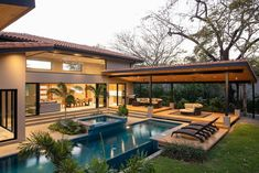 A Luxury Tropical Oasis: Beach Club - SPA- Golf- Surf -Tennis-Horses, Monkeys - Tamarindo Best Modern House Design, Dream Home Design, Bali House, Rest House, Luxury Homes Dream Houses, Dream House Exterior, Villa Design, Home Fashion, Exterior Design