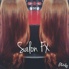 #salonfx4520 Salon FX Wichita Falls, Texas Auburn with a copper undertones