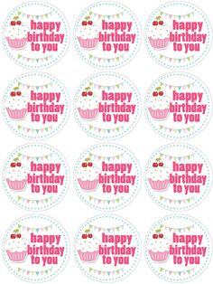 cupcake toppers birthday ,also banner,invites,tent cards, and water bottle labels.