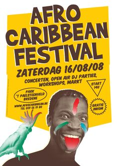 Poster Afro-Caribbean Festival 2008 | FORMA-B | Logo, Web & Graphic Design