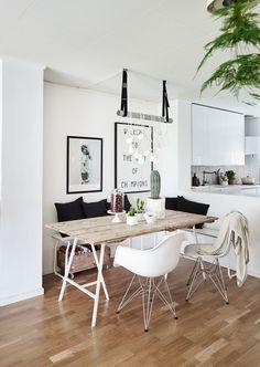 60 Modern Farmhouse Dining Room Table Ideas Decor And Makeover – Home Design Ikea Linnmon, Farmhouse Dining Room Table, Dining Table, Contemporary Home Decor, Home And Deco, Dining Room Design, Decor Room, Home Interior Design, Room Inspiration