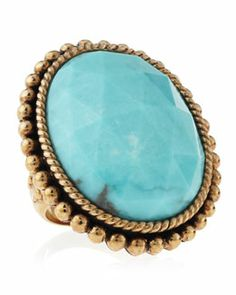 Last Call by NM 0  Stephen Dweck Oval Turquoise Ring