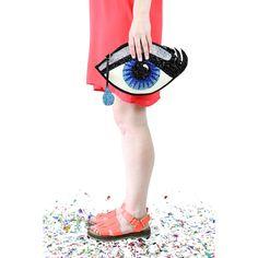 Blue+Glitter+Eye+Clutch+Handbag+with+Teardrop+by+LunaontheMoon