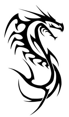 dragon lined-tribal by insomnia-maniac on DeviantArt