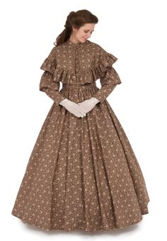 Civil War dresses evoke one of the most tumultuous periods of American history. Recollections has the perfect Civil War dress for your next event! Vintage Gowns, Mode Vintage, Vintage Outfits, Victorian Fashion, Vintage Fashion, Pioneer Clothing, Pioneer Dress, Old Fashion Dresses, Civil War Dress