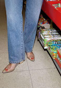 Maryam Nassir Zadeh clear plastic heels