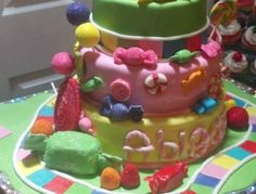Candy Land Birthday Cake Candy Land, Yummy Cakes, Birthday Cake, Party, Desserts, Food, Tailgate Desserts, Deserts, Birthday Cakes
