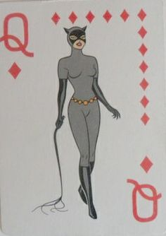 Vintage Catwoman Playing Card