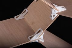 Sperrholzplatten mit 120 Grad Verbindung aus 3D Drucker