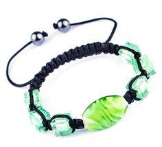 $1.99  45mm Green Nylon Lampwork Hematite Bracelets Jewelry Gift  #Eozy