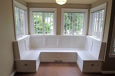 Kinda like this but with window seat ONLY on back/window wall of the bay window