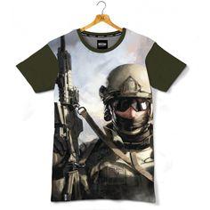 Koszulka patriotyczna Operator GROM-u. Nadruk sublimacyjny. - odzież patriotyczna, koszulki męskie Red is Bad