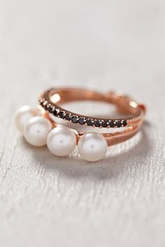 Pearl Layer Ring anthropologie.com #anthrofave