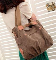100% Cotton Thicken Canvas Design New 2014 Women Handbag Women Messenger Bags Travel bags 3 Colors Shoulder Bag For Women
