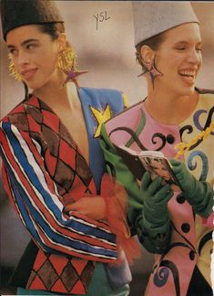 Yves Saint Laurent S/S 1988 tribute to Braque and the Cubists.