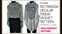 THIS PATTERN IS FREE ON MY BLOG, click on the icard at the end of the video. DIY, Crochet a CIRCULAR TURTLE NECK PONCHO, Easy method, #1129yt , CROCHET CAPE,...