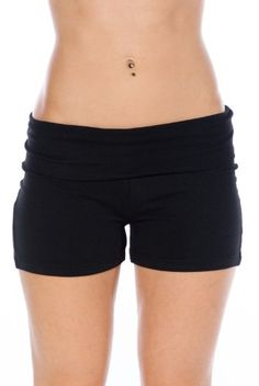 Zenana Contrast Waist Fold Over Yoga Shorts,Small,Solid Black Zenana Outfitters http://www.amazon.com/dp/B005OM2R9G/ref=cm_sw_r_pi_dp_6D-Mwb0JPH631