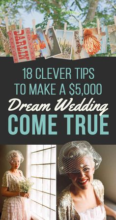 THESE ARE THE BEST TIPS I HAVE EVER SEEN I WANT ALL OF IT!!!! 18 Ways Real People Had Their Dream Weddings For $5,000 Or Less