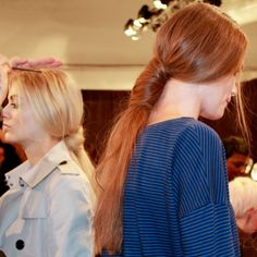 Libertine's wrapped ponytails = #hair perfection #NYFW #MBFW