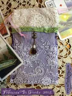 Look at my new bag for a Lenormand deck! I have to share it with you, because I am so happy with it. It's my first lavish pouch. Constructing it was an abundance and self love ritual. Here's how I made it: http://www.outlawbunny.com/2015/01/06/diy-luxury/