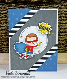 CTMH Super Boy stamp and Thin Cuts dies. by Vicki Wizniuk