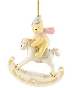 Lenox 2015 Winnie the Pooh Baby's 1st Christmas Dated Ornament - Christmas Ornaments - For The Home - Macy's