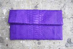 Purple Python Foldover by Melissa Lina