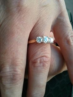 Alison's 0.51 ct central diamond is perfectly balanced by two further 0.30ct diamonds... Gorgeous perfection!