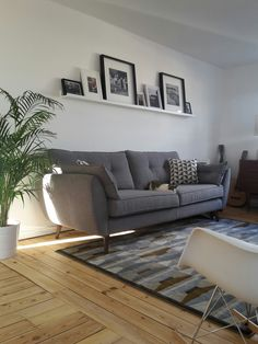 sofa and modern chair