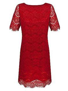 Alexon Deep red lace tunic
