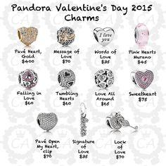 pandora charms precios