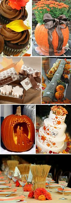 If I could have a fall wedding...this would be it. There's cute ideas for all seasons on this website though!